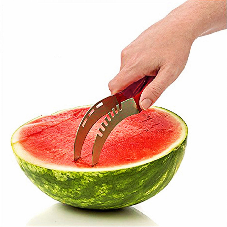 قطاعة بطيخ يدوية شكل سكين ستانليس ستيل السنيدي