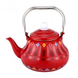 ابريق شاي غضار نقش القط العسيري السنيدي 2.5 لتر