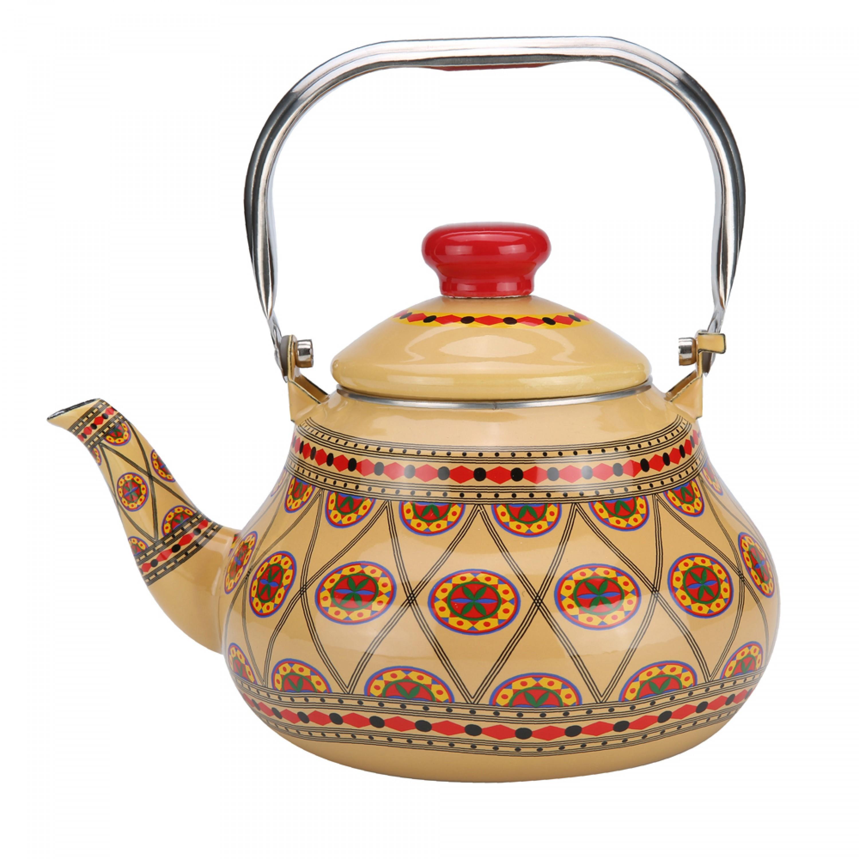 ابريق شاي غضار نقش نجدي السنيدي 2 لتر