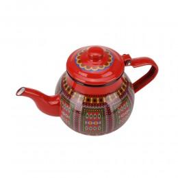 ابريق شاي غضار نقش نجدي السنيدي 1.1 لتر