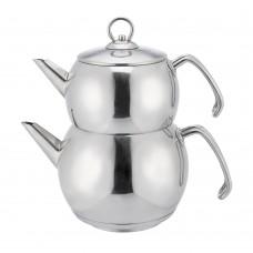 ابريق شاي على البخار ستانلس ستيل السنيدي 0.7 + 1.7 لتر