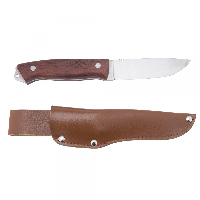 سكين الصياد السنيدي يد خشب جراب جلد