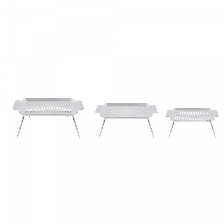 طاولة تنشيف اواني حديد مجلفن السنيدي 42.5*25.5*16 سم