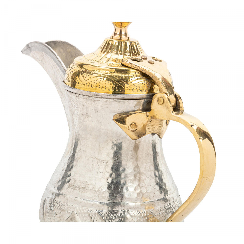 دلة قهوة بغدادي نقش حب الرمان نحاس هندي السنيدي رقم 2