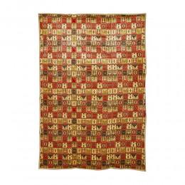 فرشة أرضية نقش تراثي مبطنة قماش 200*400 سم
