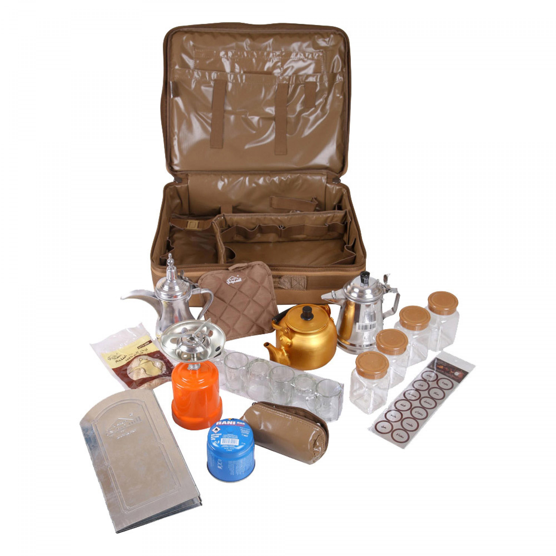 شنطة شاي وقهوة الصمان مكتملة السنيدي عدد 24 قطع